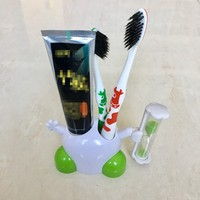 Three Minutes Hourglass Timer Toothpaste Dispenser