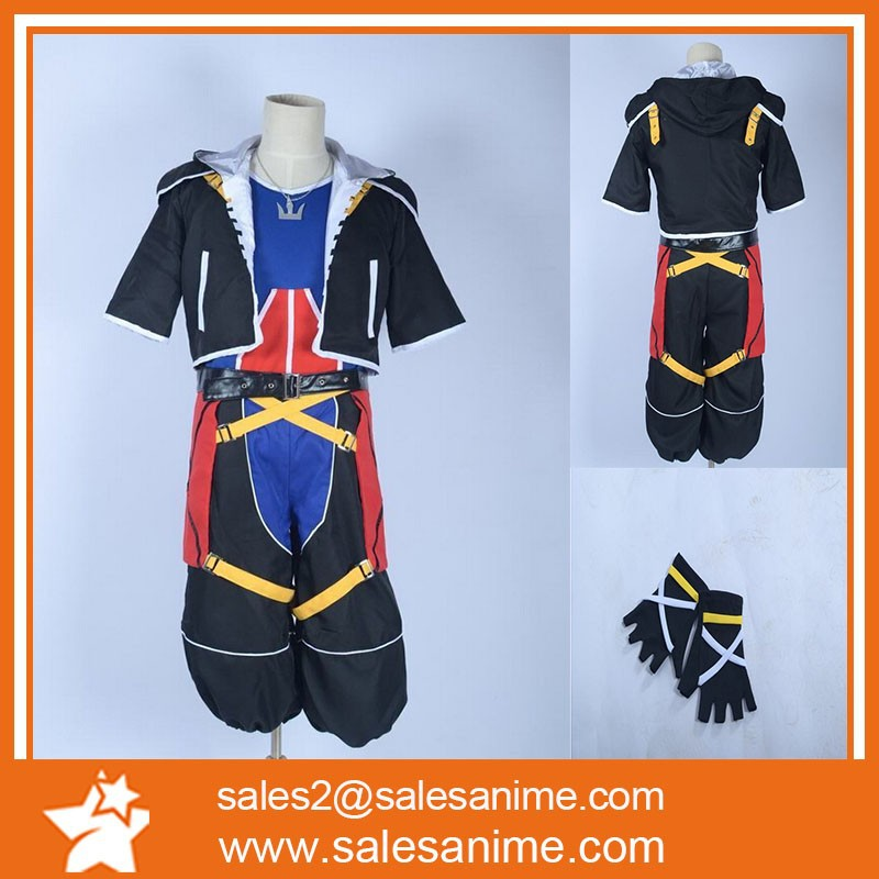 2015 HOT SALE! Kingdom Hearts Sora 2 Kids Cosplay Costume Hot game Cartoon anime Halloween Role-playing Costume