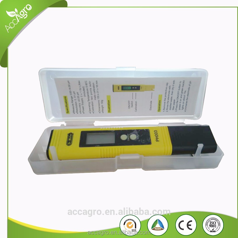 Low Cost Hydroponics Meter Pocket Size Digital Liquid Ph Water Quality