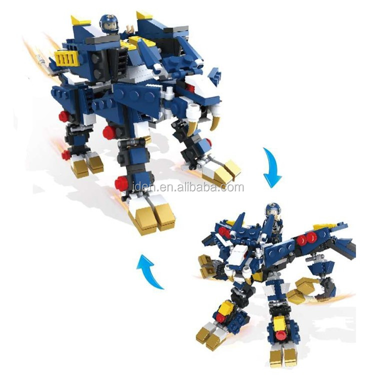 HSANHE Wholesale Kids Educational Toy Robot model creative building block set