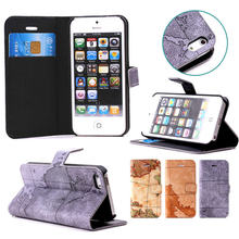 2015 Fashion for iPhone 5/5S TPU Case Leather Flip, for iphone 5 Leather Phone Case Wallet Cover
