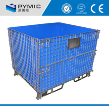 China wholesale mesh box wire cage metal bin storage container/Storage stainess cage