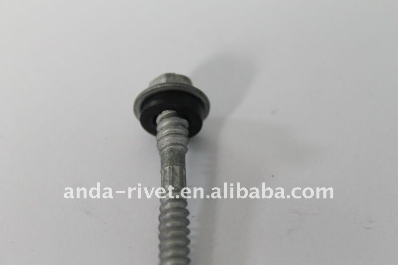 HEX FLANGE HEAD SELF DRILLING SCREW WITH EPDM WASHER