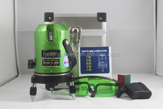 Hot sale Sincon SL223G with 5Lines 2 Points green 4V Laser <strong>Level</strong>