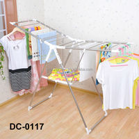 stainless steel strengthen doll clothes rack with shoe rack