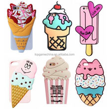 Popsicle Cupcake Fruit Cherry Ice Cream 3D Soft Silicone Phone Case for iPhone 5 6 6S 6Plus 7 7Plus