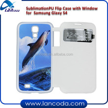 Sublimation window leather mobile phone case for galaxy S4