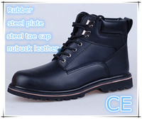 EN ISO 20345:2011 nubuck leather upper Rubber outsole goodyear work boot and work shoes