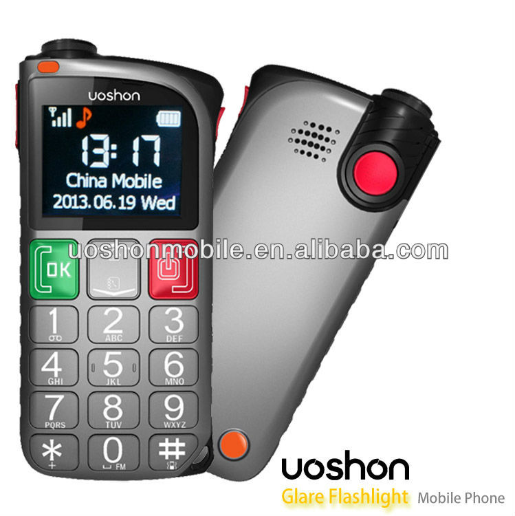 GSM senior mobile phone big red auto dialer with panic button, fast dialing and sos message cell phone
