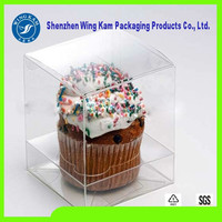 Plastic Clear Foldable Box With Insert Cupcake Sale In Alibaba Packaging