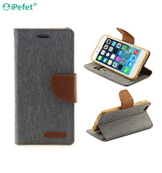2016 New Mercury Canvas Wallet Flip Leather Phone Case For iPhone 6 Plus