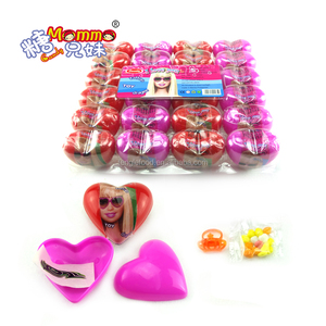 ST-015 pretty heart shape surprise toy egg with tattoo paper