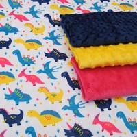MOQ 10MTS Europe Fashion Customized Designs Print Microfiber Plush Fabric
