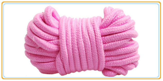 wholesale cheap nylon <strong>flat</strong> soft braided cotton rope sex toys factory price