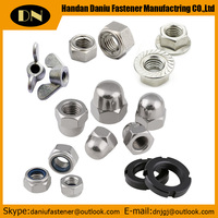 Hexagon nuts with Flange, Nylon anti loose nut,
