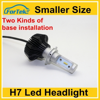 led h7 headlight smaller size high bright led head bulbs