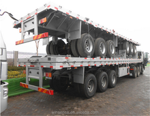 Low Price Used 3 alxes 40ft Container Flatbed Semi Trailer for sale