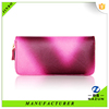 hot sales Gradient pink color long strap fashion PU leather wallet for women