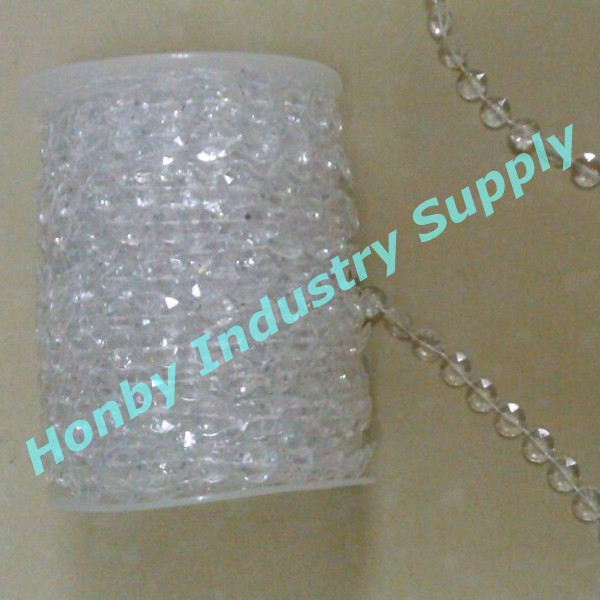 Acrylic 10mm Faceted Beads Wedding Party Chandeliers Decorations Bead Chain