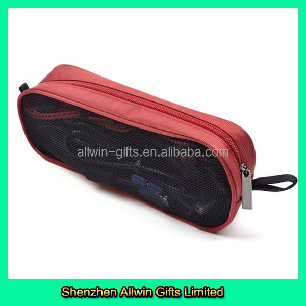 Hot Selling Mesh Design Polyester Red Color Cell Phone Storage Case