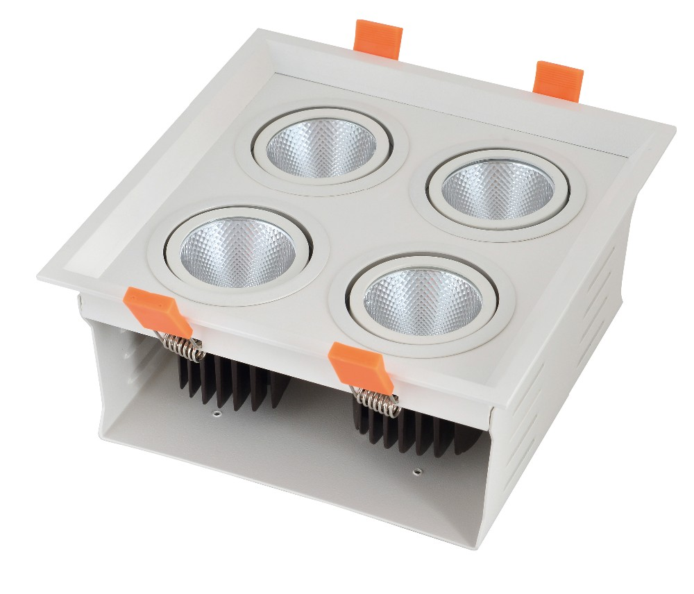 High Power LED Grille Light for Hotel Showroom Chain Shops COB grille downlight with CE ROHS