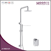 Unique Design Round Tube Chrome-plated Bathroom Brass Shower Set AT-RB021CP