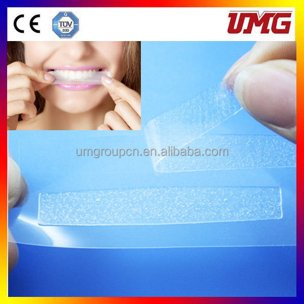 Whitening strips making teeth sensative