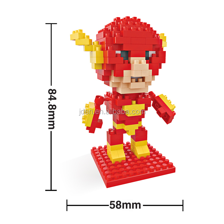 HSANHE Plastic Fantasy Action Figures toys The Flash Cosplay In TV and Movie building blocks