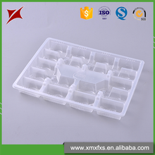 Different size dumplings packaging blister disposable factory pp frozen food tray