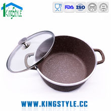 Traditional unbreakable customized enamel non-stick casserole cookware