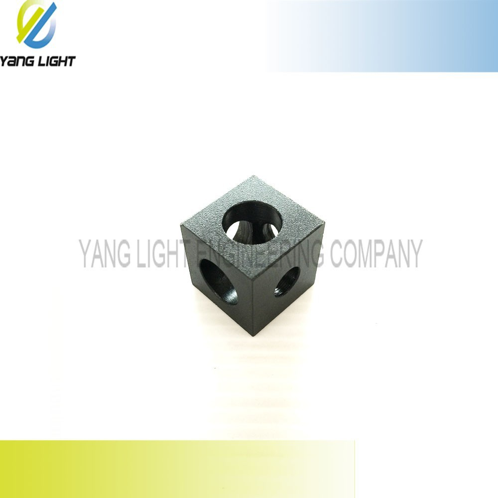 Made in Taiwan CNC modules corner connector angle Aluminium Anodizing High Precision CNC Milling angle Cube corner