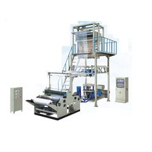 Single Screw Double Die Head Plastic Bag Making Machine PE Blow Film Extruder Production Line