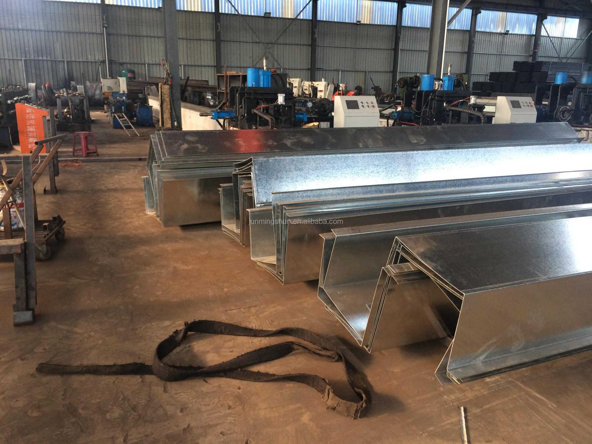 Pre galvanized steel rain gutter for greenhouse and warehouse