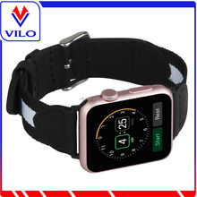 Vilo 2017 new Genuine leather nylon replacement for apple watch strap