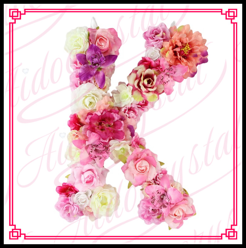 Aidocrystal Flower Letter K Floral Letters Bright Summer Flowers Personalised Wall Hanging Letter Initial Nursery Decor