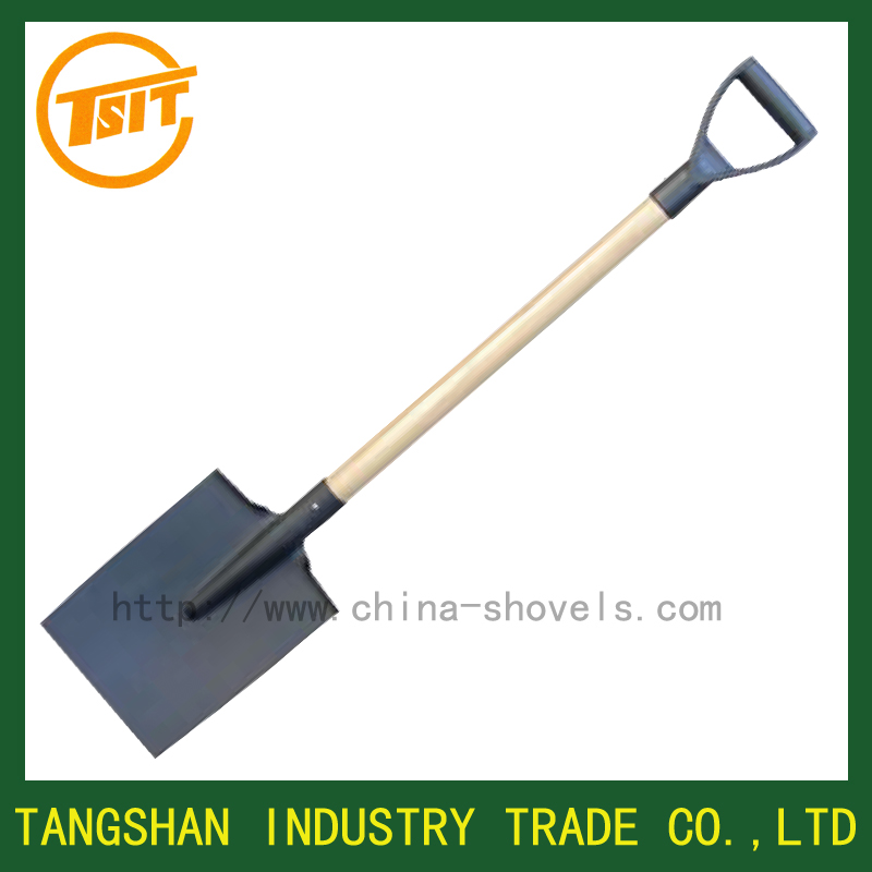 wooden handle tool plastic grip trenching spade shovel