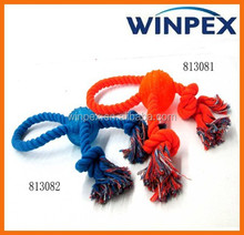 Dog chew toy, Cotton rope tpr dog toy, TPR ball dog toy