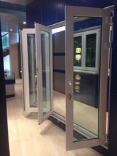 Good appearance 60 casement pvc interior glass folding door