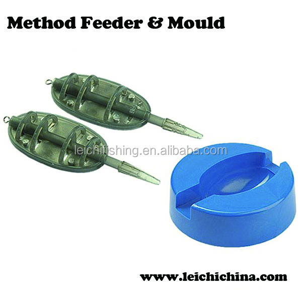 colorful carp fishing method feeder and mould
