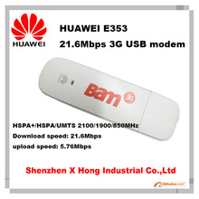 Brand New Original Unlock HSPA+ 21.6Mbps HUAWEI E353 USB 3G Dongle Support 850/1900/2100MHz