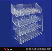 Custom Clear acrylic cigarette display cabinet