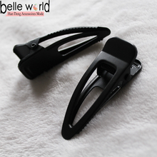 Good quality black metal hair clip accessoires for women