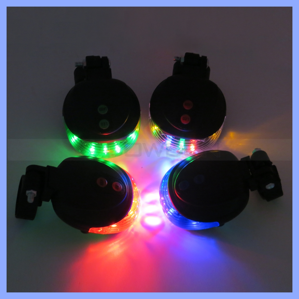 5 LED +2 Laser Color Changing Bike Rear Flashing Light Cycling Bicycle Tail Safety Warning Lamp