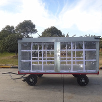 Steel Canopy Baggage Cart For Airport