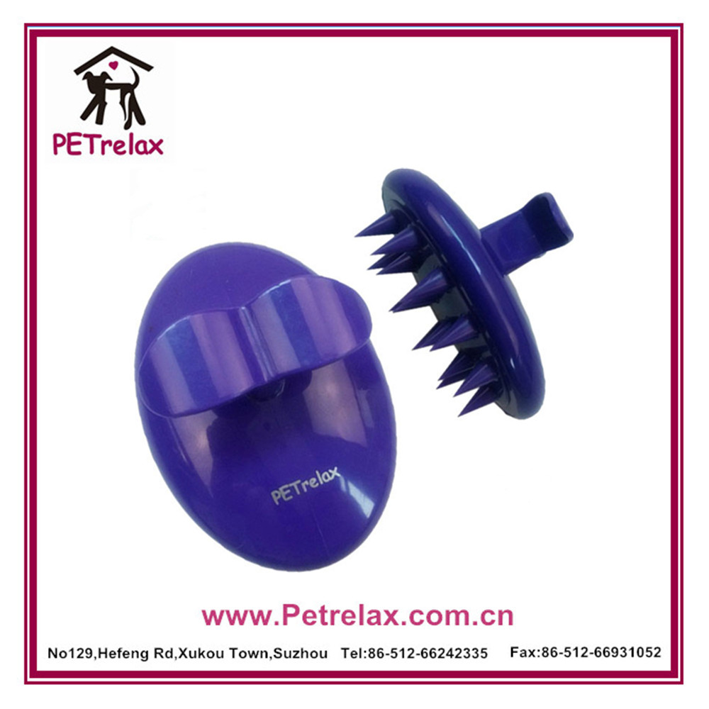 silicone bath brush cat hair remover comb