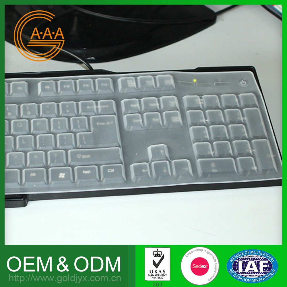 2016 Newest Wholesale Oem Design Silicone Keyboard Case Non-Toxic For Pc Keyboard Cover