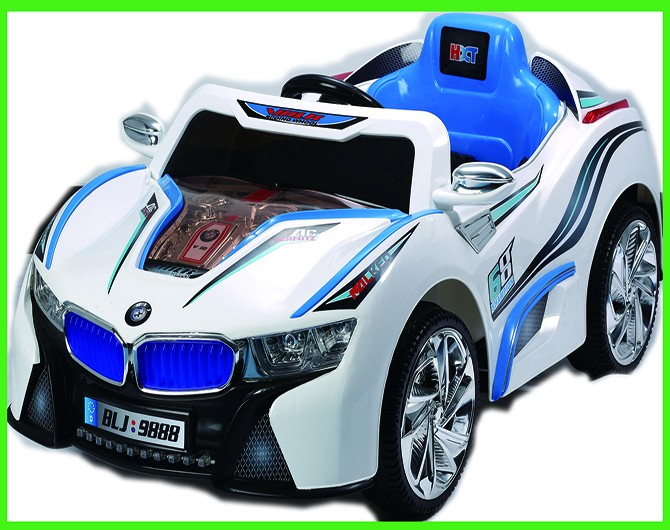 Babies mini race toy car with 2.4G bluetooth one to one remote controler baby ride on car