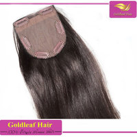 4x4 brazilian human hair silk base closure,clip in lace closure with baby hair