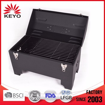 Mini Portable toolbox charcoal bbq grill