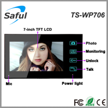 "Topsaful TS-WP706 Wireless video door phone with 7""TFT-LCD color OSD intercom"
